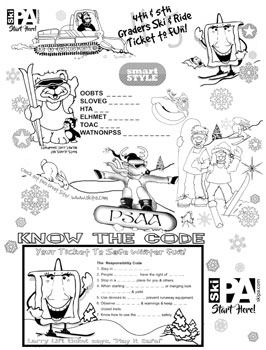 snowpass coloring contest