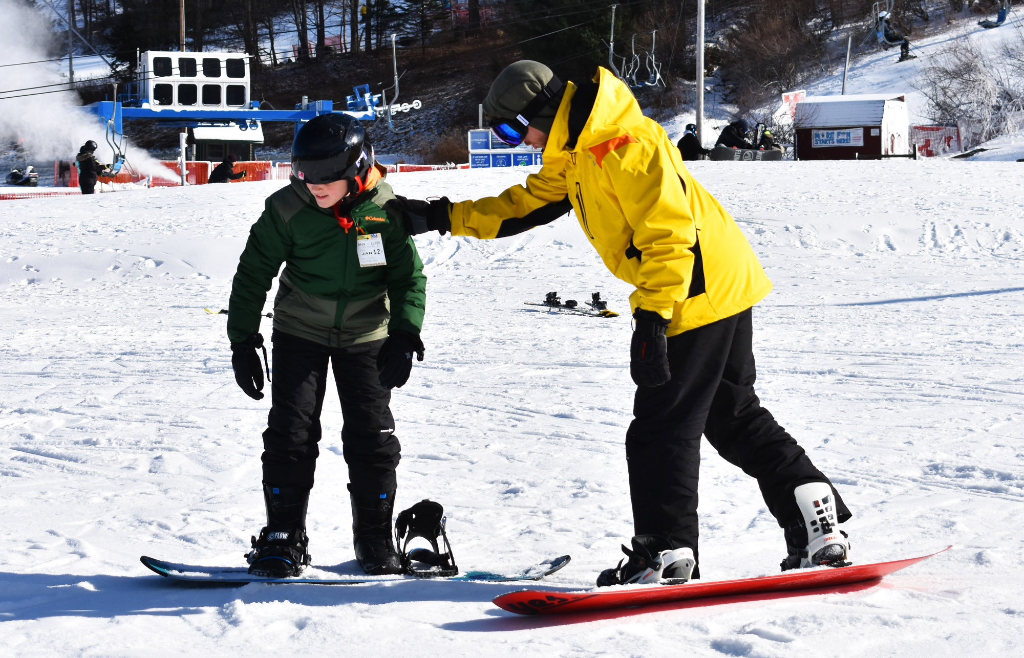 Beginner Snowboard Lesson at Shawnee Mountain