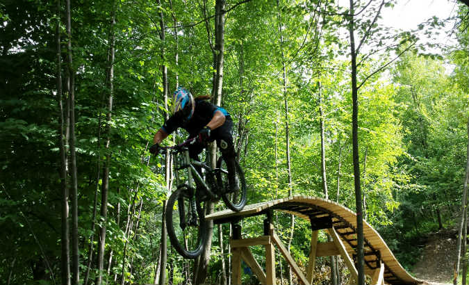 blue mountain biking
