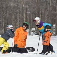 Family time on the slopes at Shawnee Mountain Ski Area