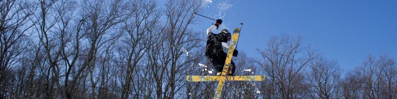 Todd Nordstrom on the Bushkill Terrain Park   Shawnee Mountain Ski Area