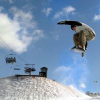Snowboarder In Air 2
